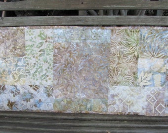 Quilted Table Runner - Table Topper - Serenity