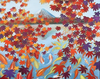 "Harmony No.3 Autumn, 13""x16"", Limited edition of 100 Fine Art Giclee Prints on watercolor paper"