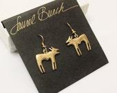 Laurel Burch Dog Coyote Earrings, Vintage Laurel Burch Jewelry