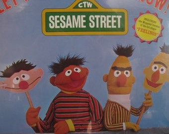 "SEALED RARE, Vintage, ""Sesame Street Let Your Feelings Show"", Vinyl LP, Record Album, Childrens, Original 1977, Bert And Ernie, New Oldstock"