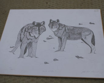 Two Wolves Print - Native Artist Jean Paul Levand