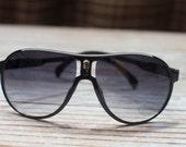 Limited Stock - Infant/Toddler Aviator Glasses - Black frame - photo prop aviators -  UV400