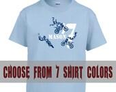 Customizable Dirt Bike Shirt, Dirt Bike Trick Shirt, Personalized T-Shirt or Bodysuit