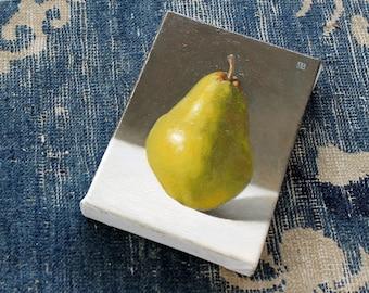 pear oil painting still life, oil on canvas