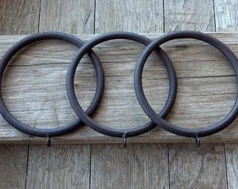 extra large rustic iron rings curtain drapery rings with eyelets 3u0027u0027