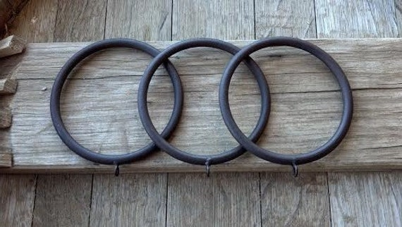 Extra Large Rustic Iron Rings curtain/ Drapery rings with