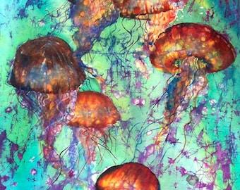 Liquid Sphere - Jellyfish Fabric Panel