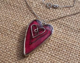 3 Heart Resin Pendant