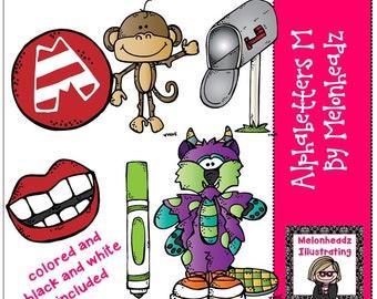 Alphabetters clip art Letter M