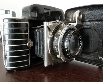 Vintage Kodak Bantam Special Camera - Art Deco Camera - 2/45mm - Original Leather Carrying Case