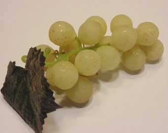 4 yellow with glitter cluster of grapes, 100 mm long (BR15)