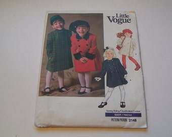 Vintage Vogue Pattern 2148 Little Vogue Child Coat