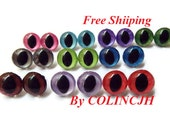 7.5mm 10 pairs Cat Eyes Hand-painted Eyes Colored Eyes Toy Eyes--mixcolor