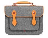 """Macbook Pro 15"""" Bag Wool Felt Macbook Sleeve with Genuine Leather Handle And Strap Briefcase Felt Sleeve for Macbook Pro 15"""""""