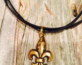 Gold Fleur Di Lis Necklace