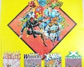 Vintage 1991 Annual Kings of Pain Marvel Comic Poster X Men