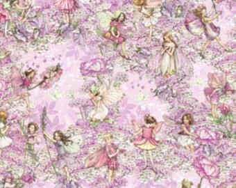 Michael Miller fabric Pink Petal Flower FAIRIES