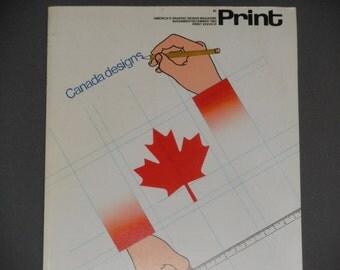 ON SALE PRINT America's Graphic Design Magazine - November December Issue 1983- Heather Cooper - Anita Kunz - Vintage Magazine Back Issues