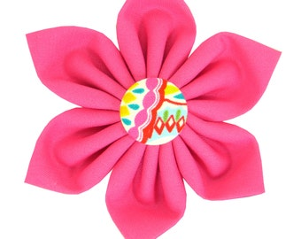 Pink Dog Collar Flower/ Colorful Dog Flower/ Collar Attachment: Confetti