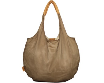 Brown Canvas Bag, Hobo Bag, Canvas Tote Bag