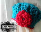 Sadie Crochet Beret for Girls, Infant - Young Adult Sizes