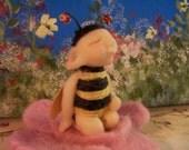 "Ooak Art Doll Fantasy "" BUG BEE"" Fairy ,Elf , Hand made Polymer By Connie"