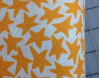 Orange Stars- Luella Doss - FAT QUARTER cut of  Fowl Play - Stars  PWLD031 in Ivory
