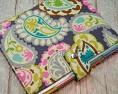 Planner Cover - in Colorful Paisley fabric - H2
