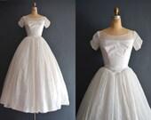Kelsey / 50s wedding dress / vintage 1950s wedding dress