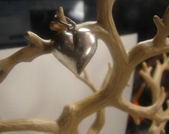 Sterling Silver Bubble Heart Pendant 1055.