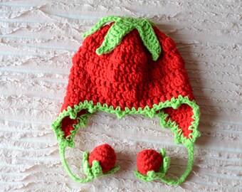Newborn Strawberry Hat Crochet Pattern : CROCHET STRAWBERRY HAT BABY ? Only New Crochet Patterns