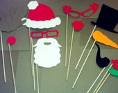 12 Piece Christmas Prop Set Santa Frosty Rudolph Made to Order