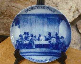 Vtg 1970 Passionsspiele Oberammergau Passion Play plate Kaiser W Germany