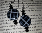 Black and white Plaid Earrings