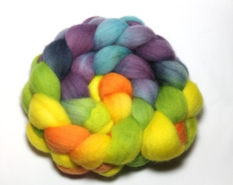 Handpainted Roving - Night and Day - Falkland wool, 4 ounces