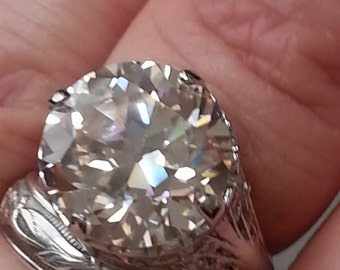 Engagement RIng - Antique Reproduction Engagement Ring  - Old European Cut Engagement Ring