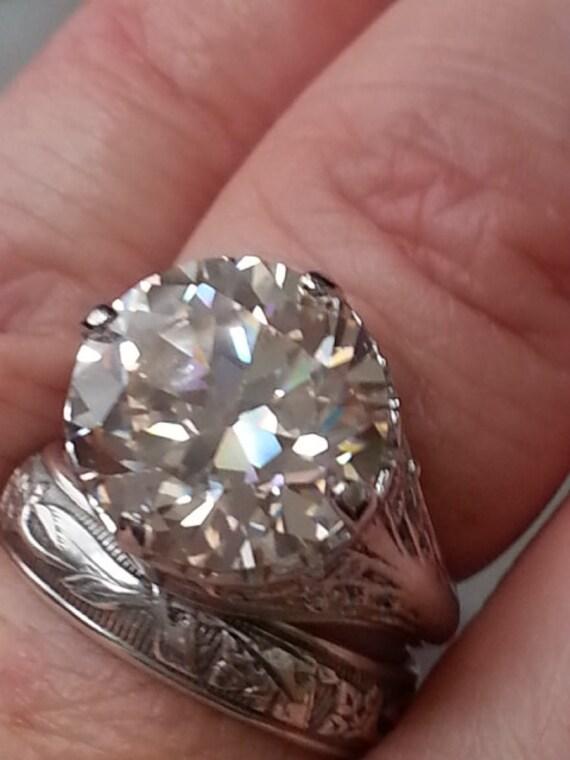 antique reproduction engagement ring european cut