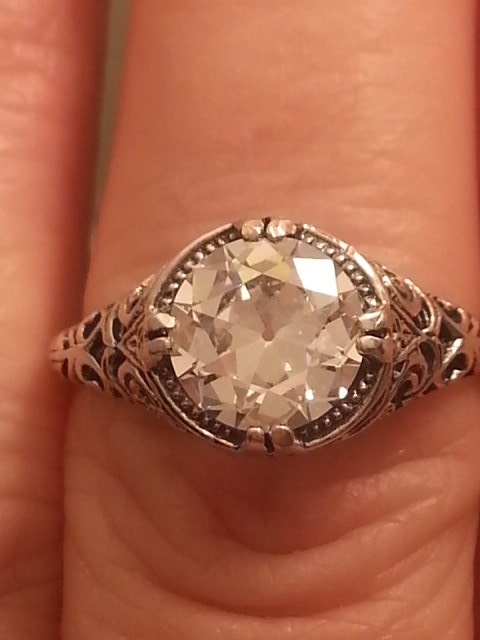 engagement ring antique reproduction engagement ring