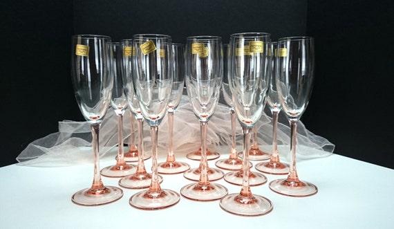 Cristal Champagne Flutes Rose Stem Champagne Flutes