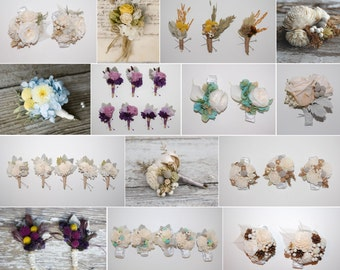 Custom Corsages - Dried & Preserved Flowers