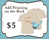 Add Printing to the Back of My Shirt  or Tank