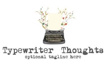 Typewriter Logo/Watermark or Blog Header