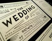 Digital Wedding Invitation Set with RSVP – Art Deco, Vintage Inspired, DIY Wedding, Printable Files – Dawn & Tim