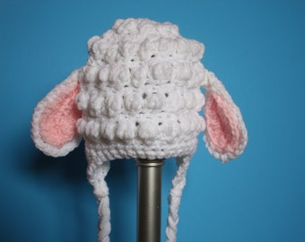 Easter lamby earflap animal beanie lamb baby hat