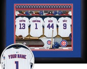 PERSONALIZED & FRAMED MLB Chicago Cubs Sports Print
