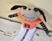 Hunter Pence Unique Sock Animal, San Francisco Giants #8, Hand-stitched, Made from all Reclaimed Clothing, Sustainable Gift, Hipster, OOAK
