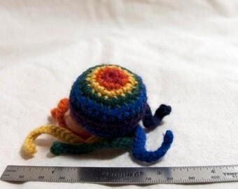 Octyfing wool & catnip cat toy - rainbow stripe