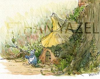 Mother Bird  -Fine Art print of my original illustration