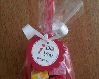 I Dig You Valentine Shovels-Sets of 12
