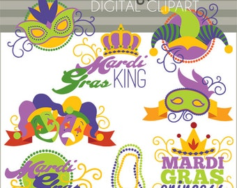 Mardi Gras Clipart -Personal and Limited Commercial Use- MardiGras  Clip art